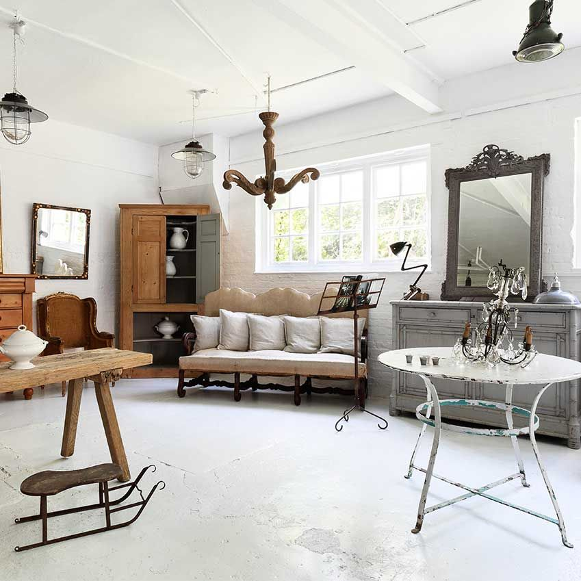 lifestyle antiques shopping in the uk  elle decor living