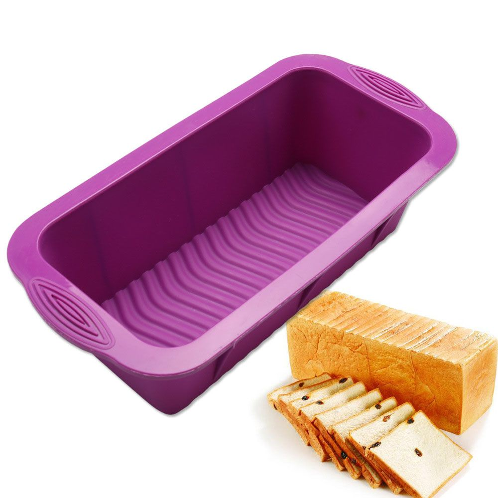 Round Non-stick Mould Toast Bar Bread Cake Baking Mold Silicone Bakeware Pan