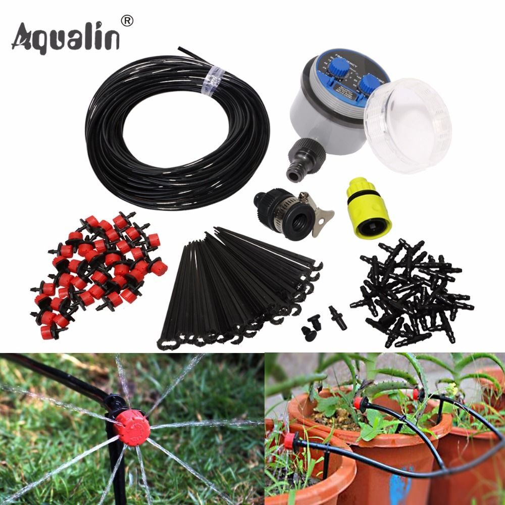 25m Garden Diy Automatic Watering Micro Drip Irrigation System Garden Self Watering Kits With Adjusta Drip Irrigation System Drip Irrigation Irrigation System
