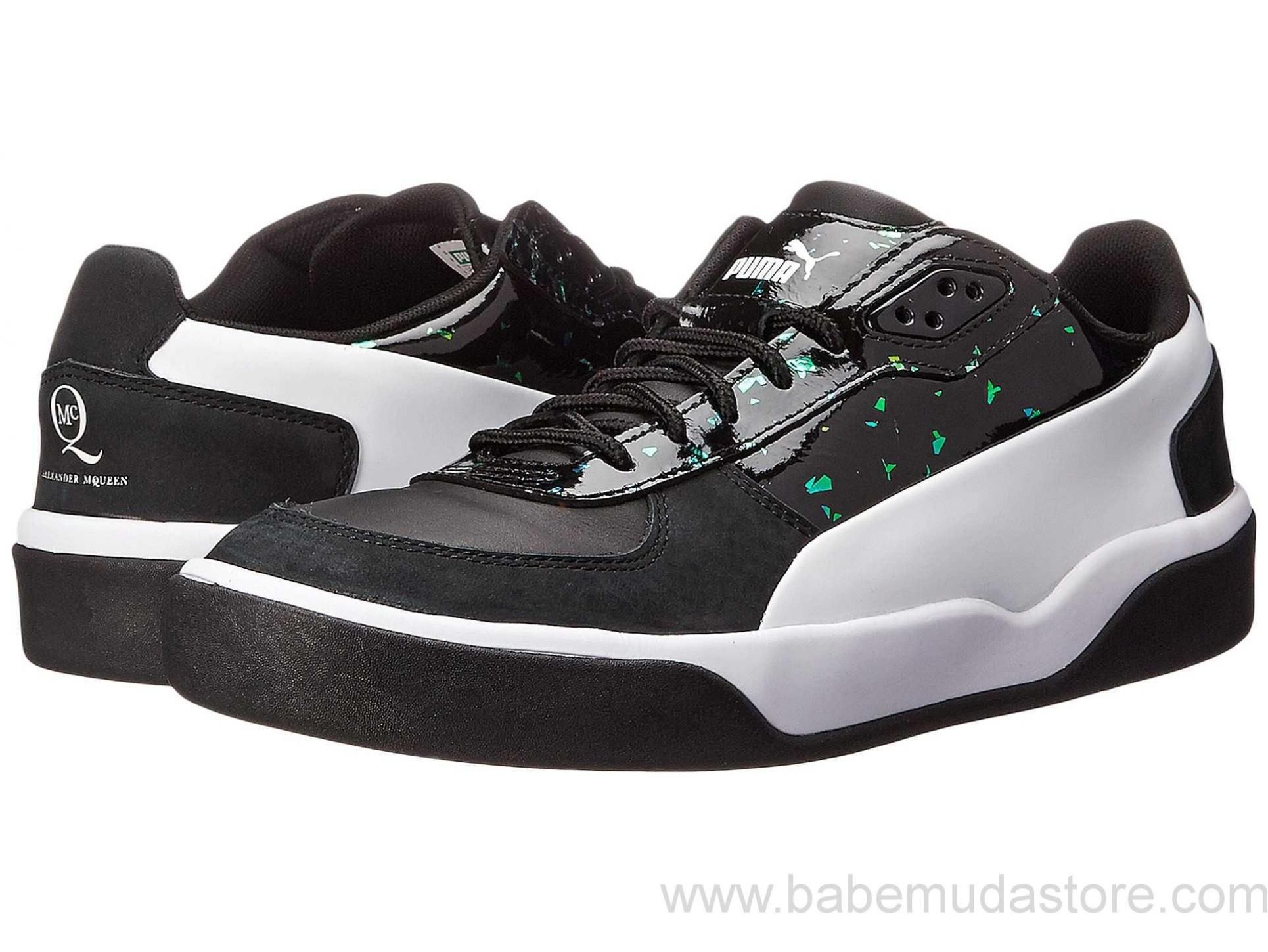 Mens Shoes PUMA Sport Fashion MCQ Brace Low Black/Flame Scarlet