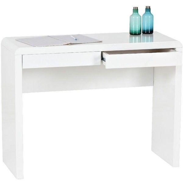 Arc 2 Drawer Desk White Desk With Drawers White Desks White Desk With Drawers