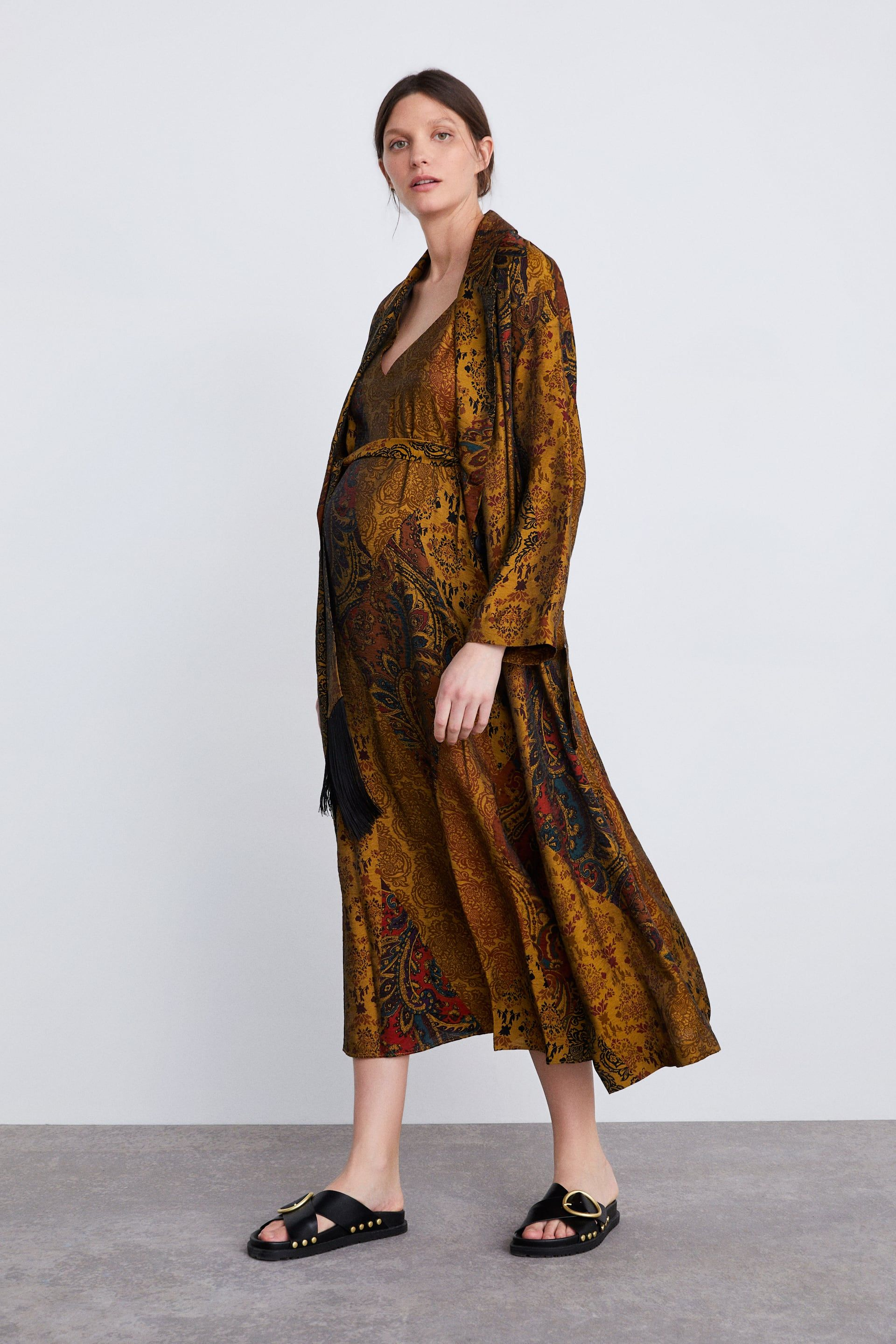 37a74567 LINGERIE STYLE PRINT DRESS - MOM-WOMAN-CORNER SHOPS | ZARA United States