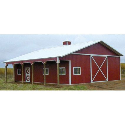 Red Steel Barn A Type Pole Barn 36 39 X72 39 X12 39 William