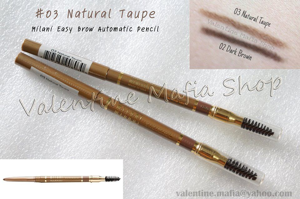 Milani Easy Brow Automatic Pencil In 02 Dark Brown And 03 Natural
