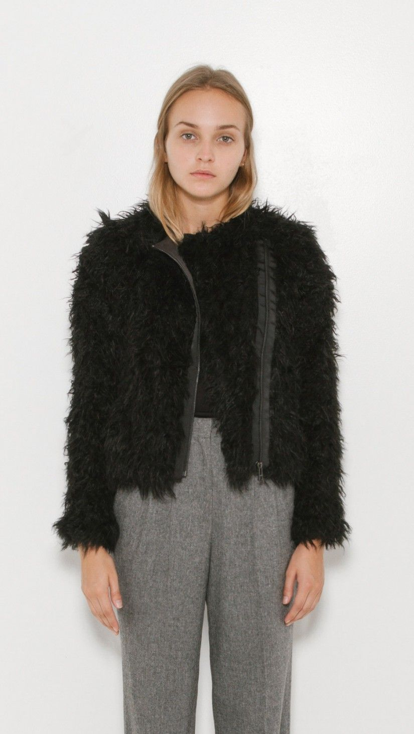 Zadig   Voltaire Vianna Faux Fur Jacket in Black  86d1729f8