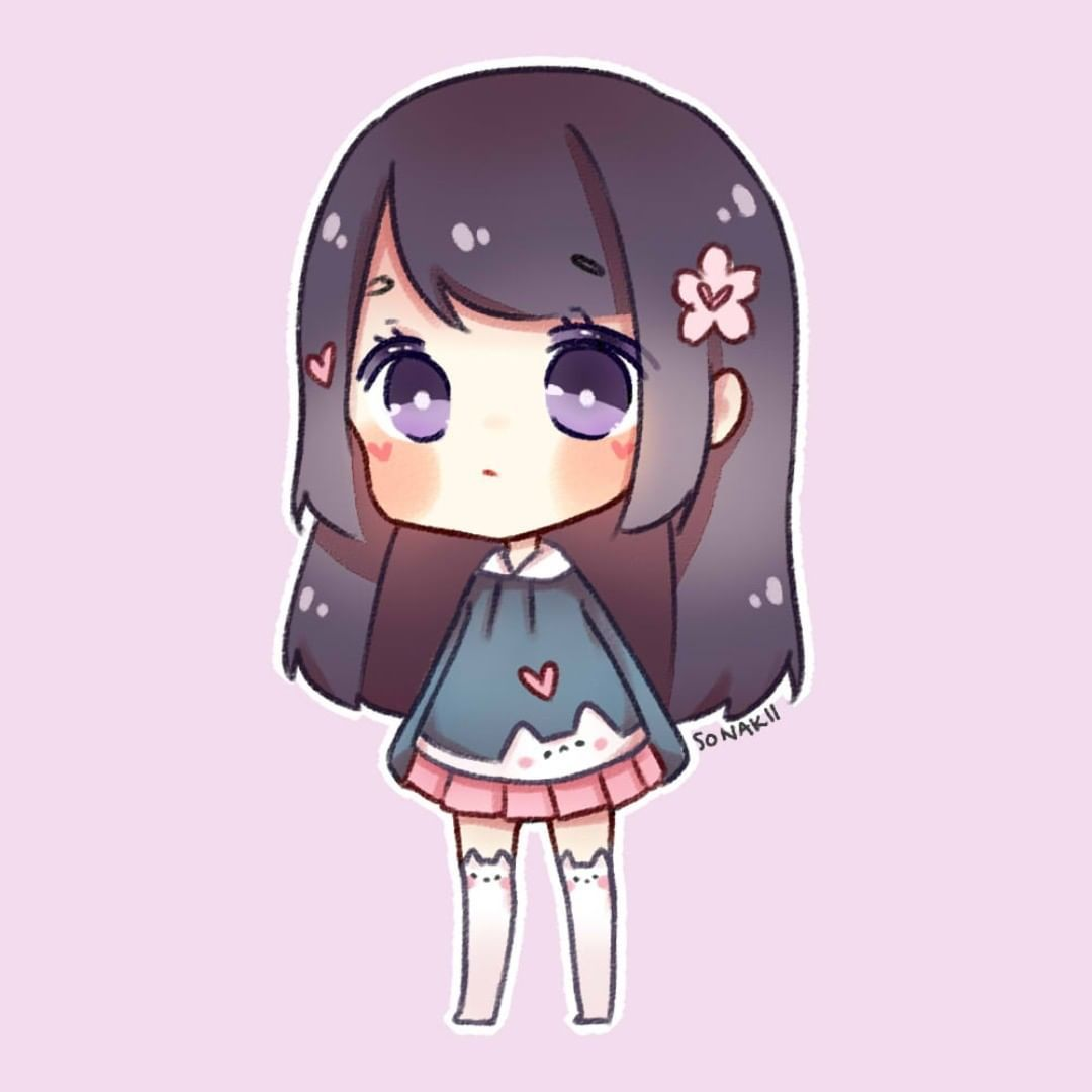 Happy Friday Fan Art For Zuzuringo Zuzuringo San Uses Clay To Make Bracelets And Hair Clips With Adorable Pastel Star Shaped C Cute Chibi Chibi Girl Chibi