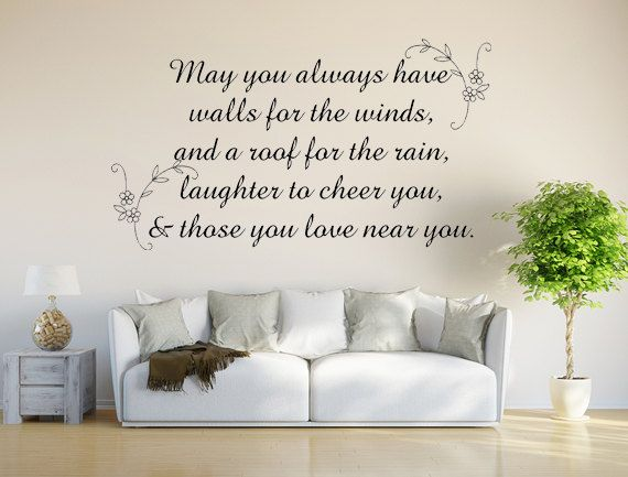 Check out irish blessing vinyl decal wall decal custom wall custom quote verse wall decal irish blessing sign walls for the wind irish blessing decal on