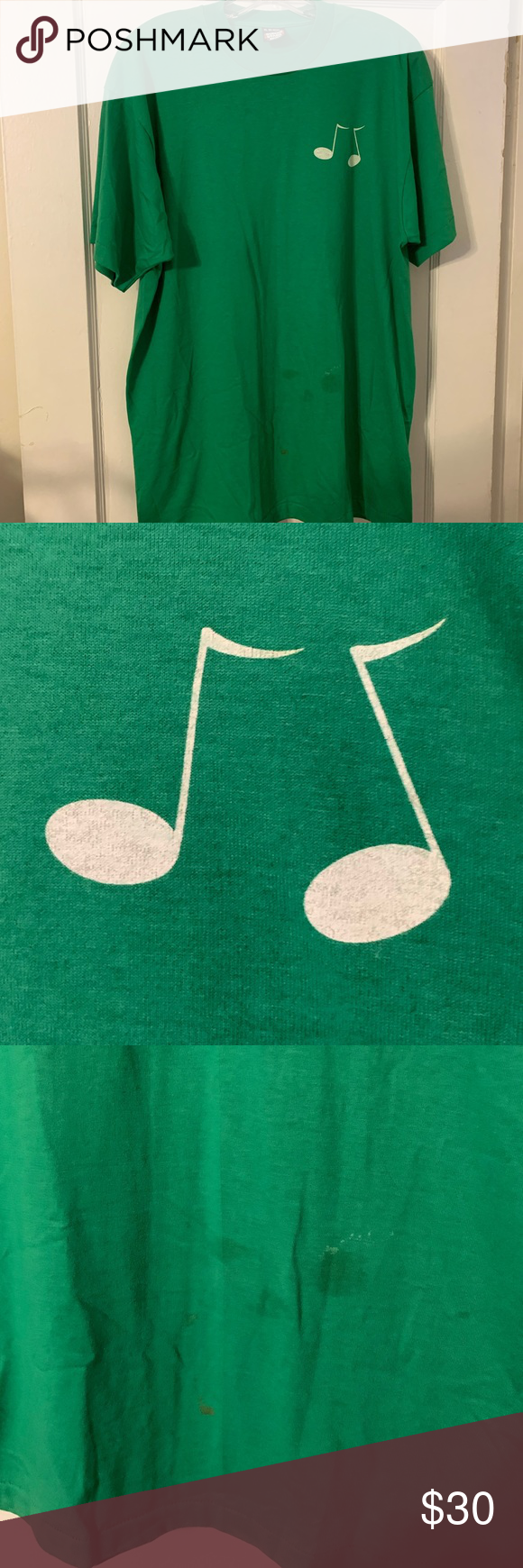 Vintage Quarter Note Cloggers SingleStitch Tee XL Great