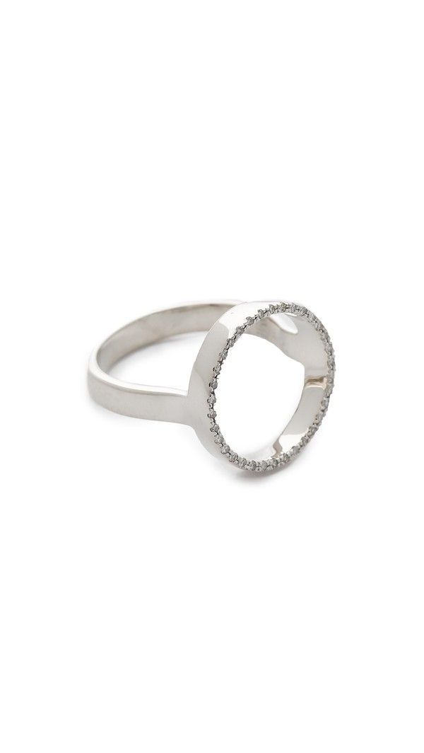Naida Diamond Cocktail Ring, Sterling Silver Monica Vinader