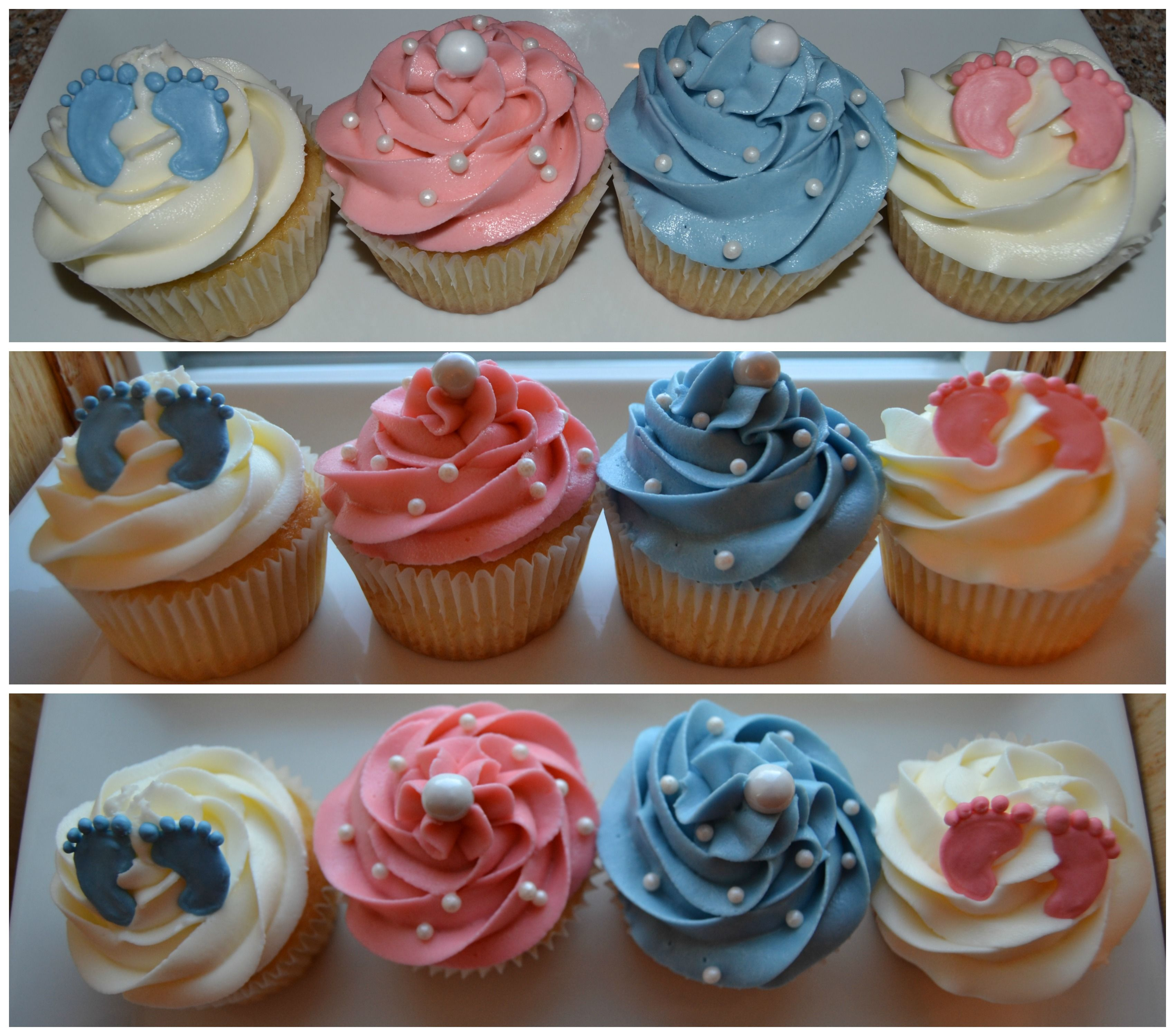 Baby Shower Cupcakes Buttercream Frosting Piped With 1m Tip