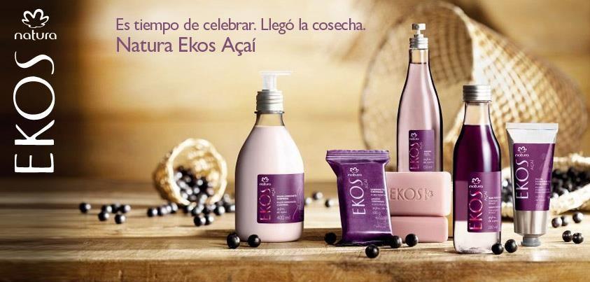 Los productos de Natura Ekos Acaí contienen aceite de Acaí que posee propiedades emolientes e hidratantes.