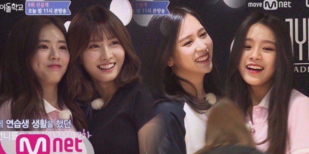 Former Jyp Trainees Natty And Park Ji Won Reunite With Twice On Idol School Jyp Trainee Idol School