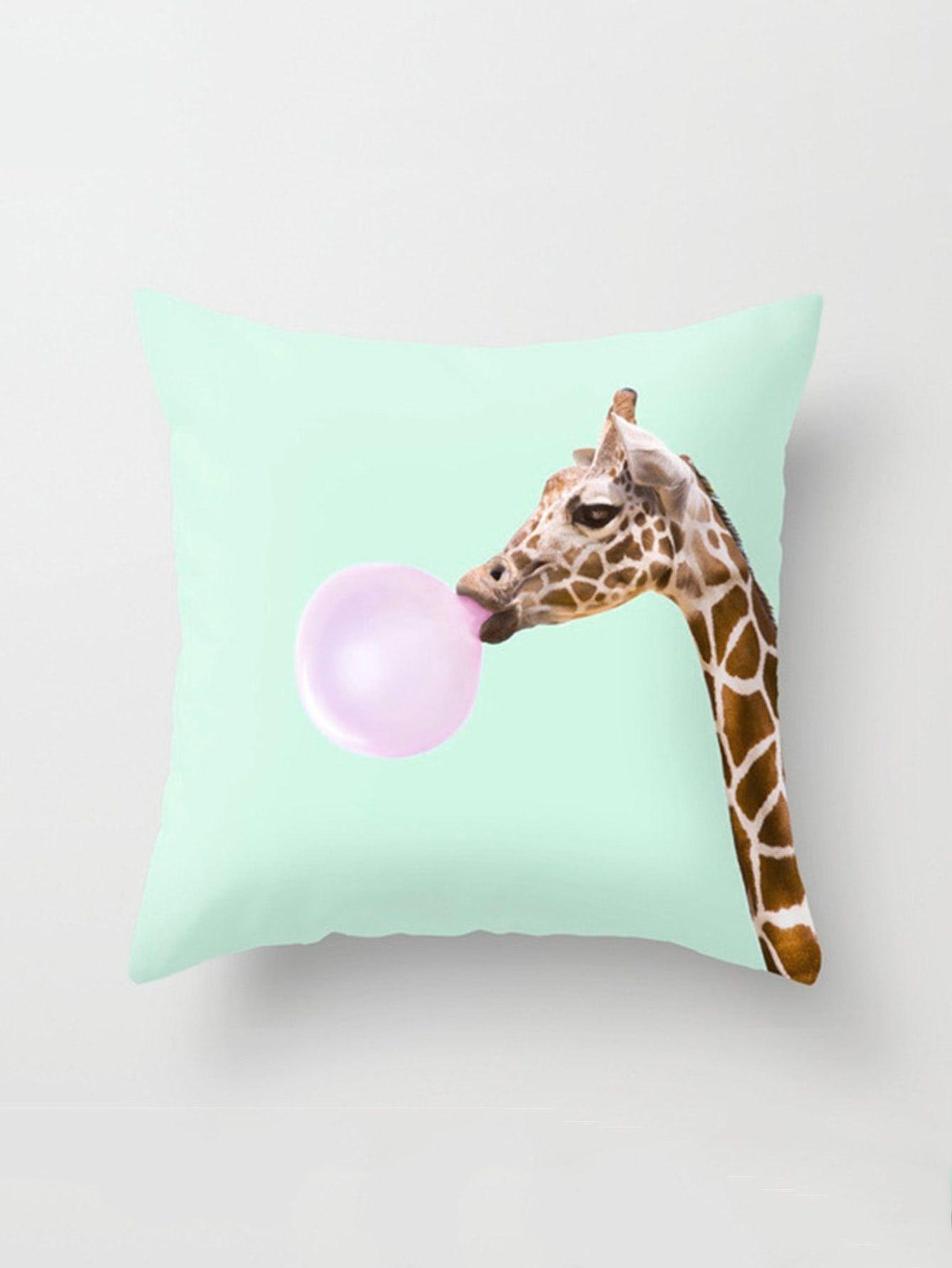Shop Giraffe Print Pillowcase Cover Online Shein Offers Giraffe Print Pillowcase Cover More To Giraffe Throw Pillow Unicorn Throw Pillow Printed Pillowcases
