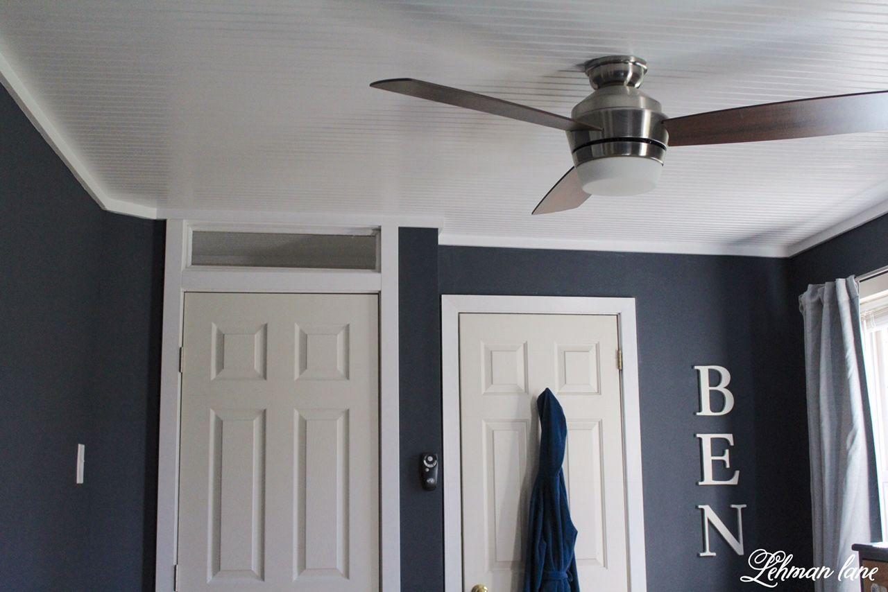 DIY Bead Board Ceiling Ceiling trim, Ceiling, House