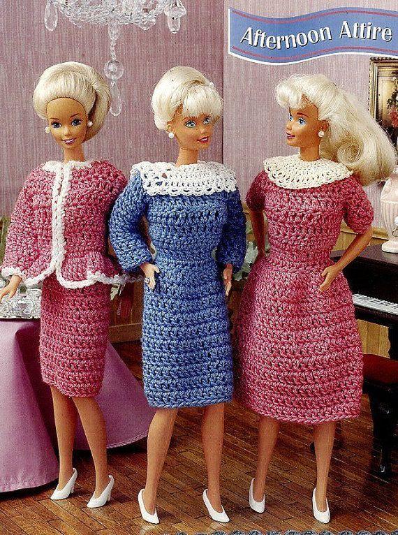 Afternoon Attire, Annie\'s Attic Fashion Doll Crochet Pattern Club ...