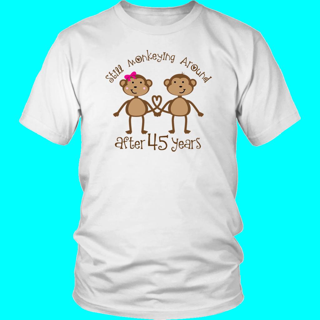 45th Anniversary Funny Monkey Couple Shirt Anniversary