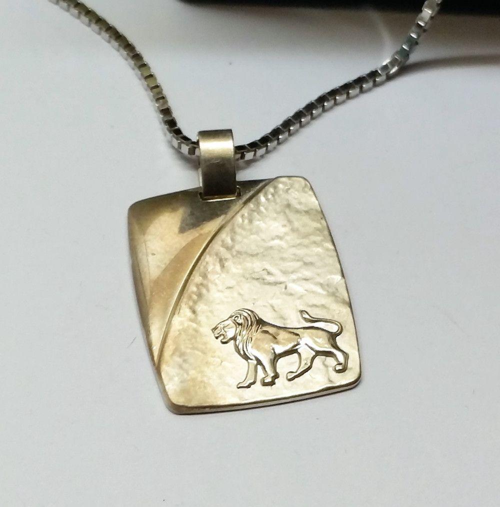 Sternzeichen Löwe Schmuck Anhänger 925er Silber