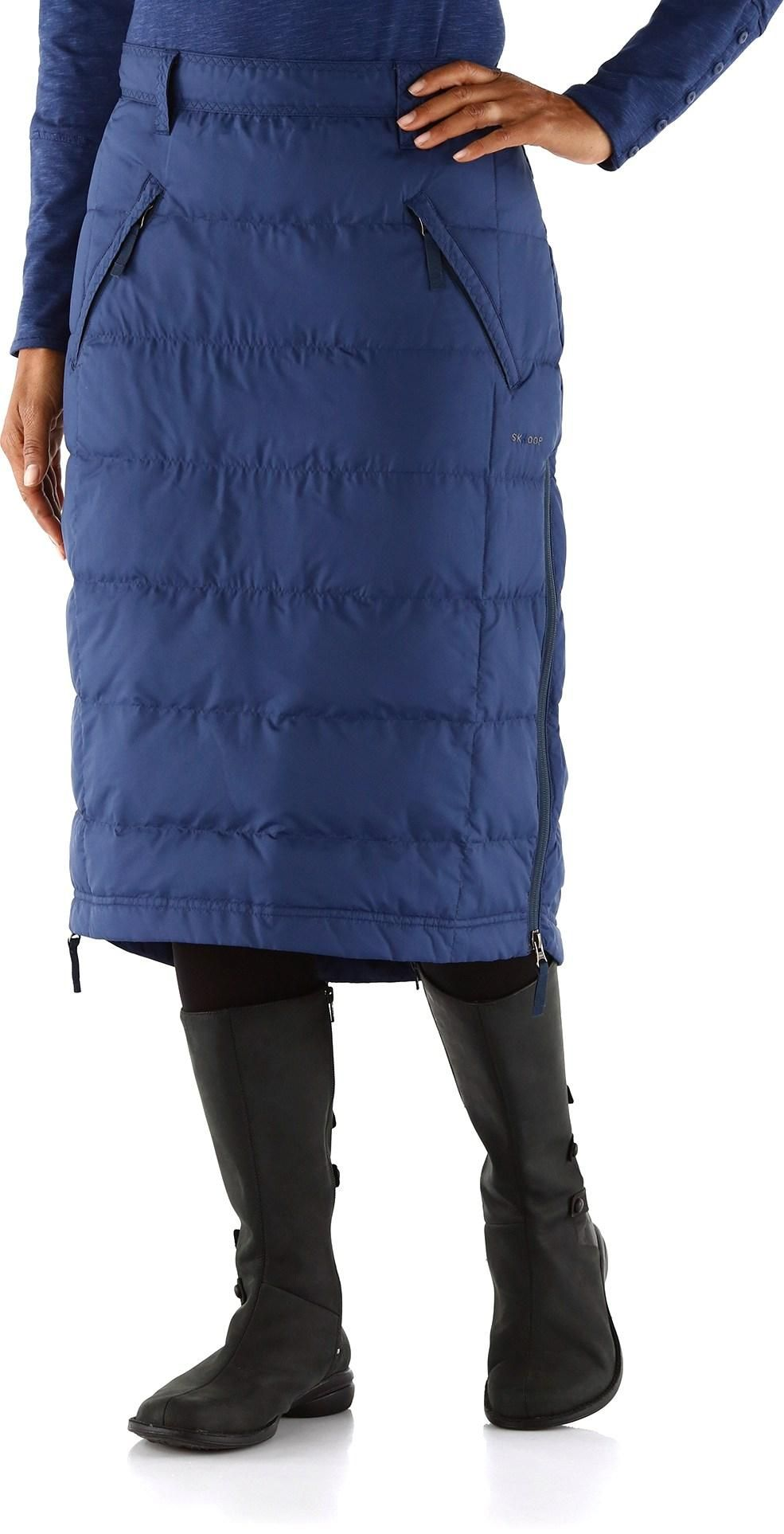 Great for cold weather days. Skhoop Mid Down Skirt. Winter Skirt Outfit ce8fe60c30138