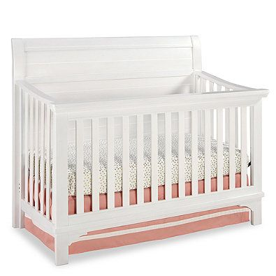 Westwood Design Taylor 4 In 1 Convertible Crib In Seashell White Convertible Crib Nursery Furniture Collections Cribs White 4 in 1 cribs