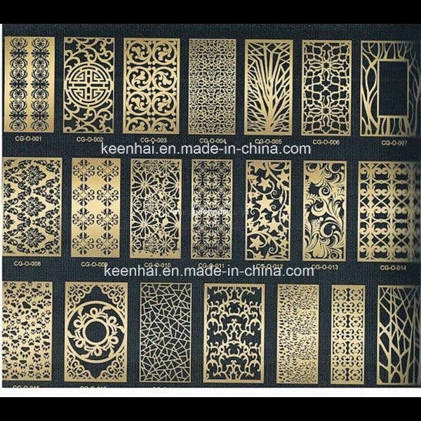 Lasercut Metal Screen Design Pattern Partiton