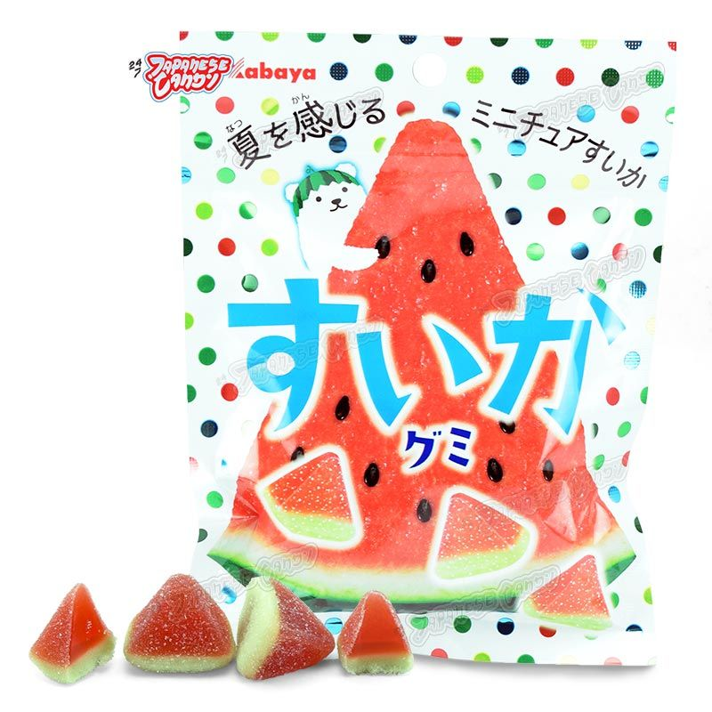 Watermelon Gummy Kabaya Enjoy The Taste Of Summer In Your Mouth With These Squishy Watermelon Gummies These Kawaii Japan Candy Japanese Candy Gummies
