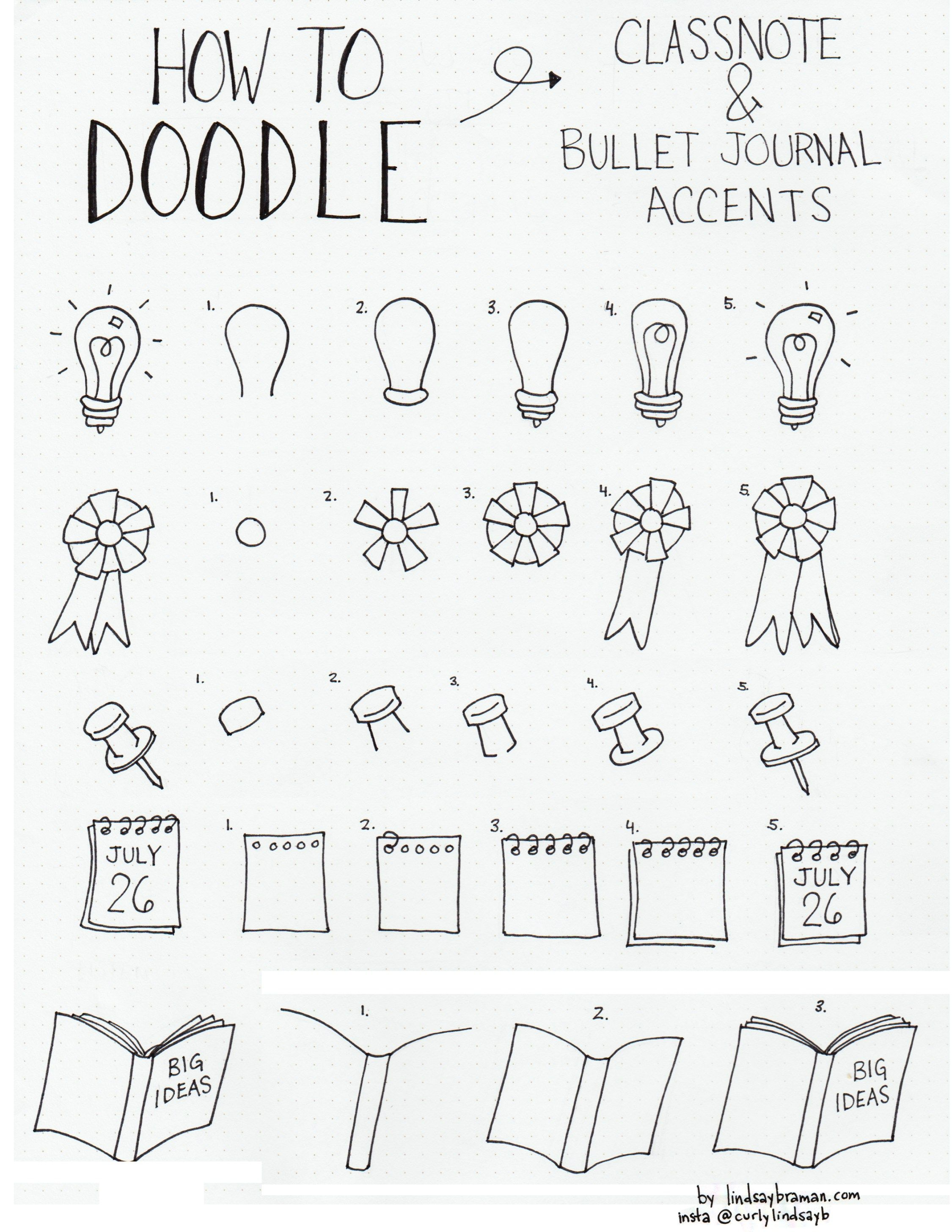 Doodle how to draw accents bujo bullet journal for How to draw doodles
