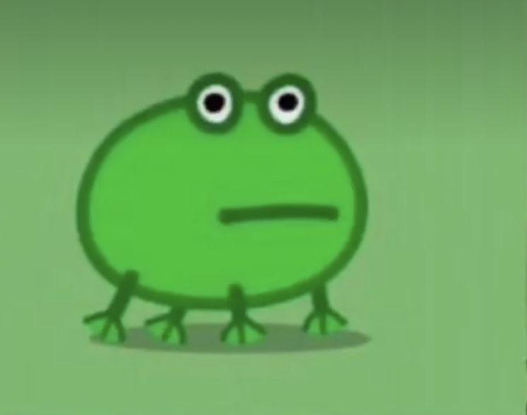 Peppa Pig Tiktok Frog Frog Meme Frog Wallpaper Frog Pictures