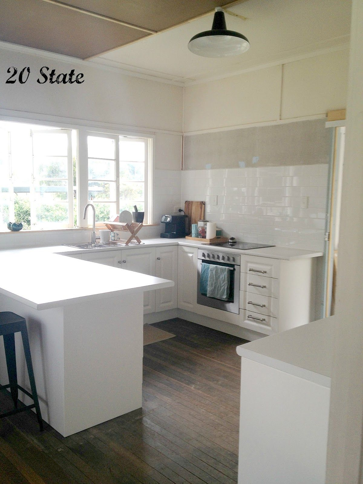 Modern Kitchen: 20 State White Flatpack U Shaped Kitchen With Island Just  Add   Glubdubs
