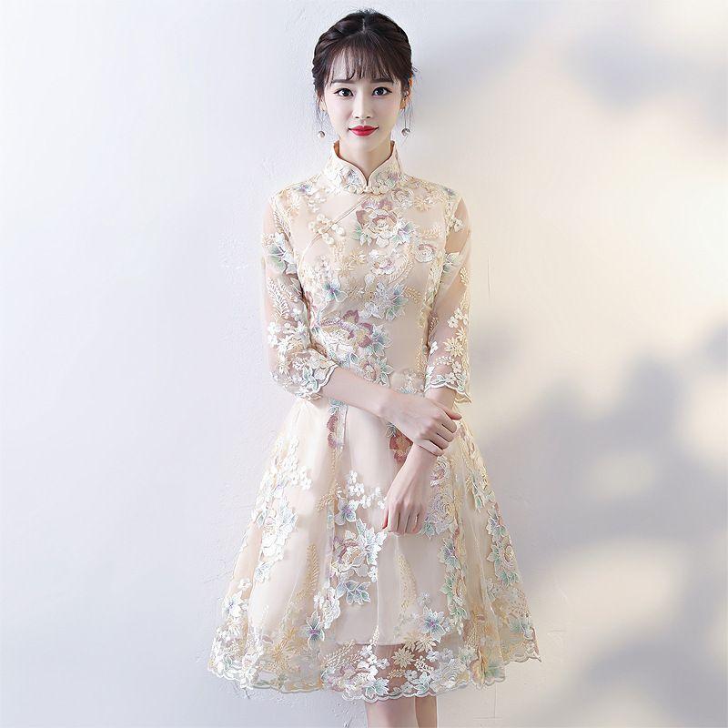 Modified Cheongsam Dress Small Fragrance 2020 New Autumn And Winter Temperament Show Thin Fashion Da