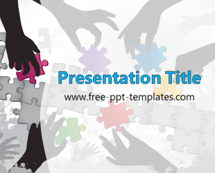 Teamwork PowerPoint Template is a grey template with appropriate ...