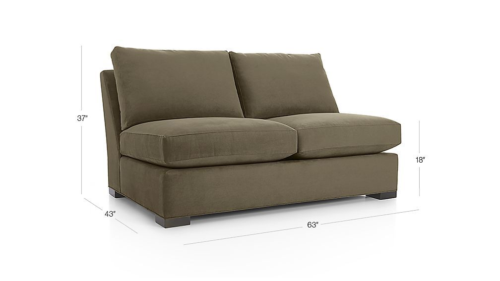 Axis Ii Armless Loveseat Reviews Crate And Barrel Love Seat