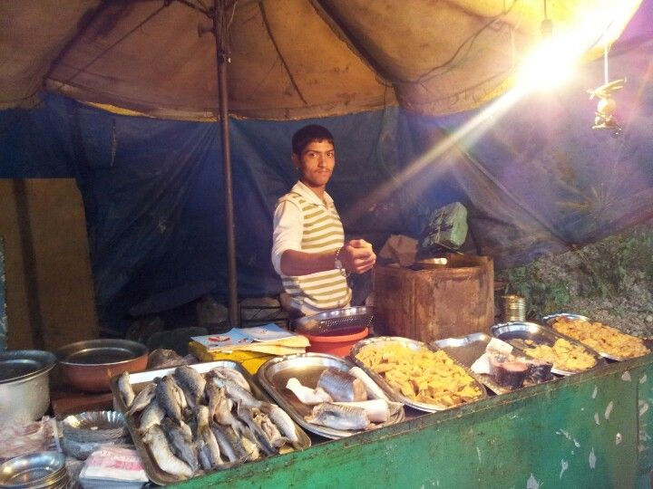 The local fish vendor in dharamshala...amazng variety ;)