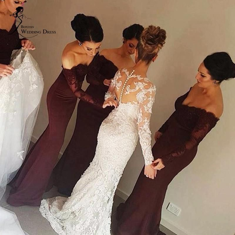 pick up new products outlet for sale Mermaid/Trumpet Bridesmaid Dresses, Burgundy Mermaid/Trumpet ...