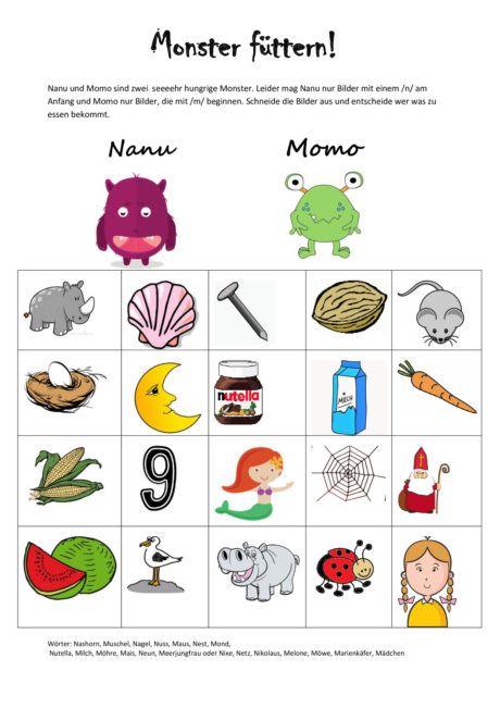 Monster Futtern Artikulation Mit Bildern Sprachspiele