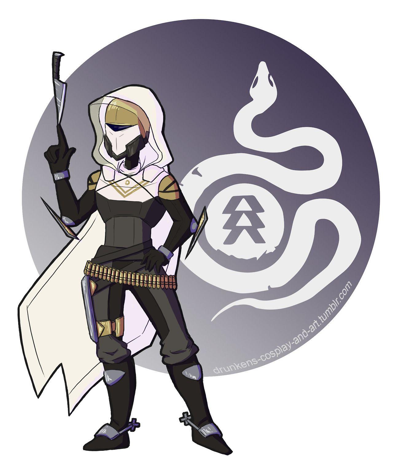 Download Female Destiny Hunter Art PNG