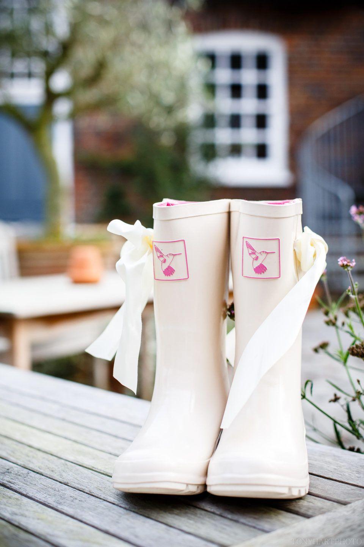 Evercreatures Wedding Wellies Cream Bridal Wellington Boots Wasing Park