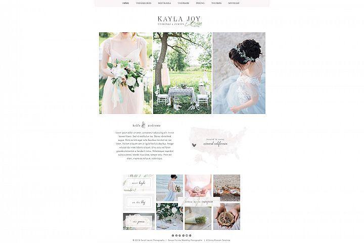 Wix Photography Website Template from DesignBundlesnet The