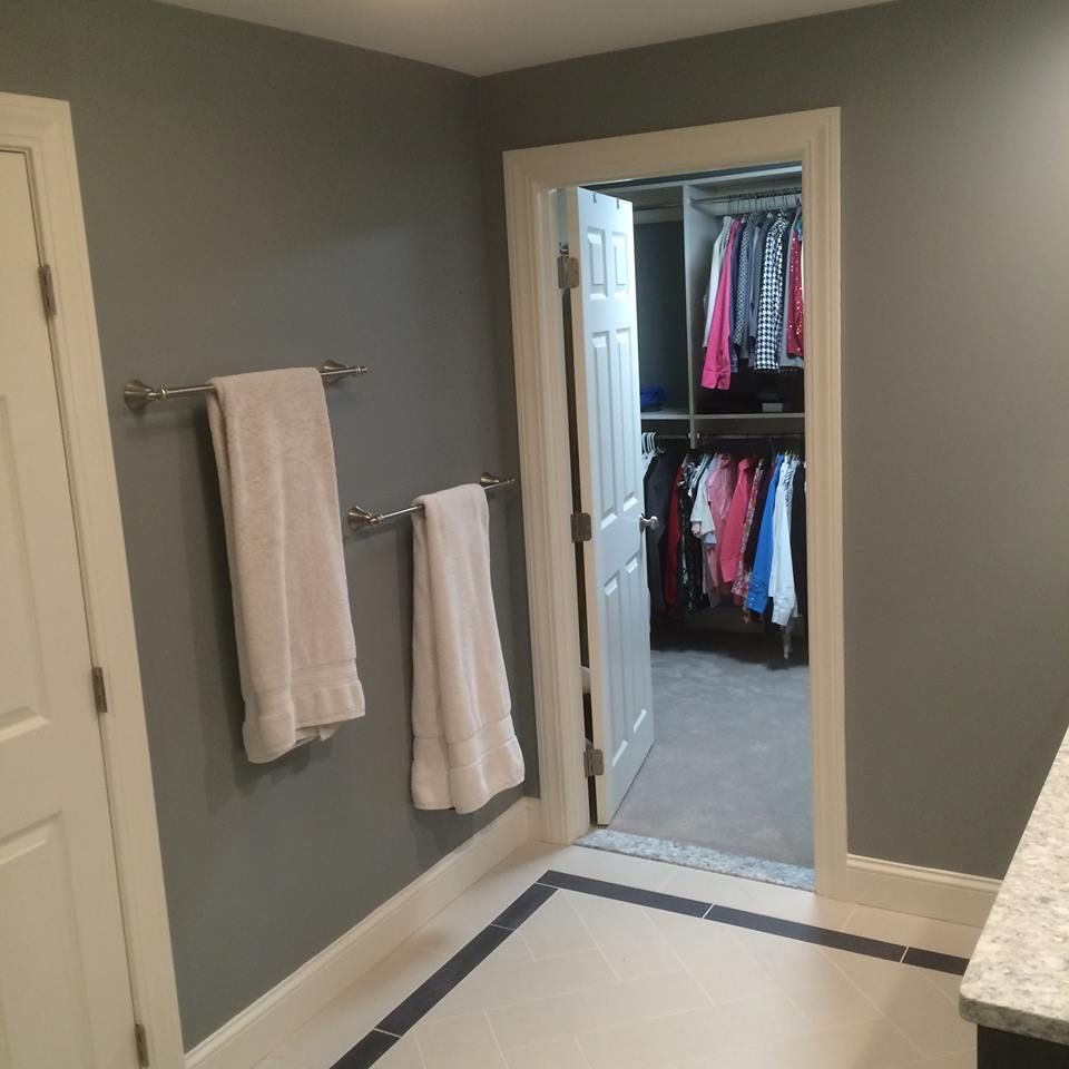 Bathroom remodel-Touchstone cabinetry double vanity in a black ...