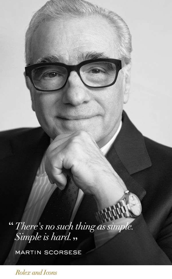Martin Scorsese Rolex Icons RolexOfficial Martin