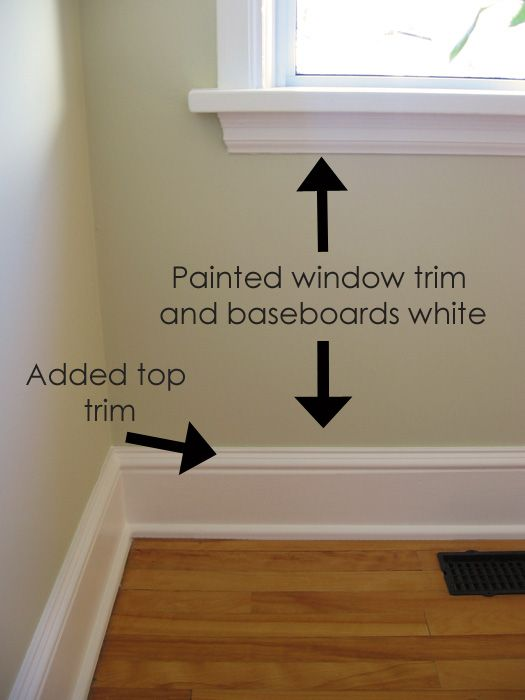 Cozy.Cottage.Cute.: Adding Trim to Our Baseboards