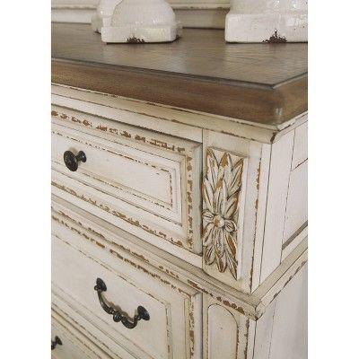 Best Realyn Dresser Chipped White Signature Design By Ashley White Panel Bedroom Set White Panel 400 x 300