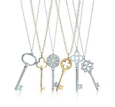 Tiffany necklaces. I have a thing for skeleton keys.