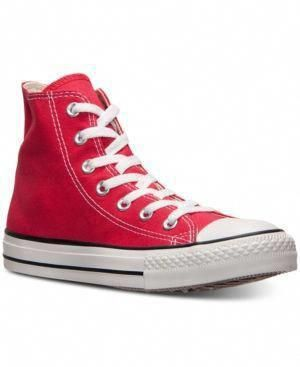 sports shoes 27df6 26d4c Converse Shoes, Chuck Taylor All Star Hi Top Sneakers from Finish Line - Red  11