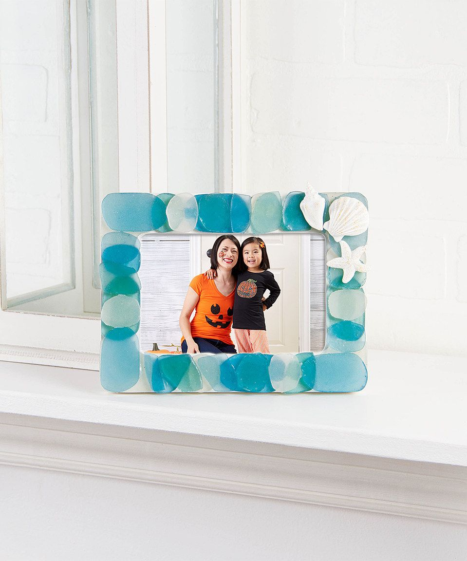 Another great find on #zulily! Blue Sea Glass Frame by Ohio ...