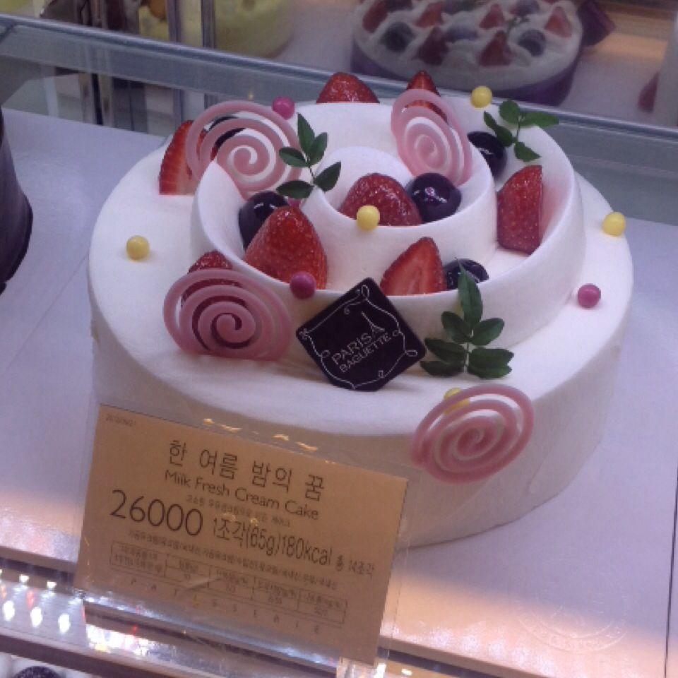 Cake in korea2 crparis baguette desserts fresh fruit