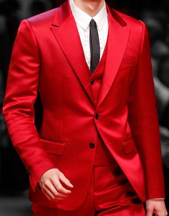 Custom Made Groom Tuxedo Red wedding Suits For Men Slim Fit Latest ...