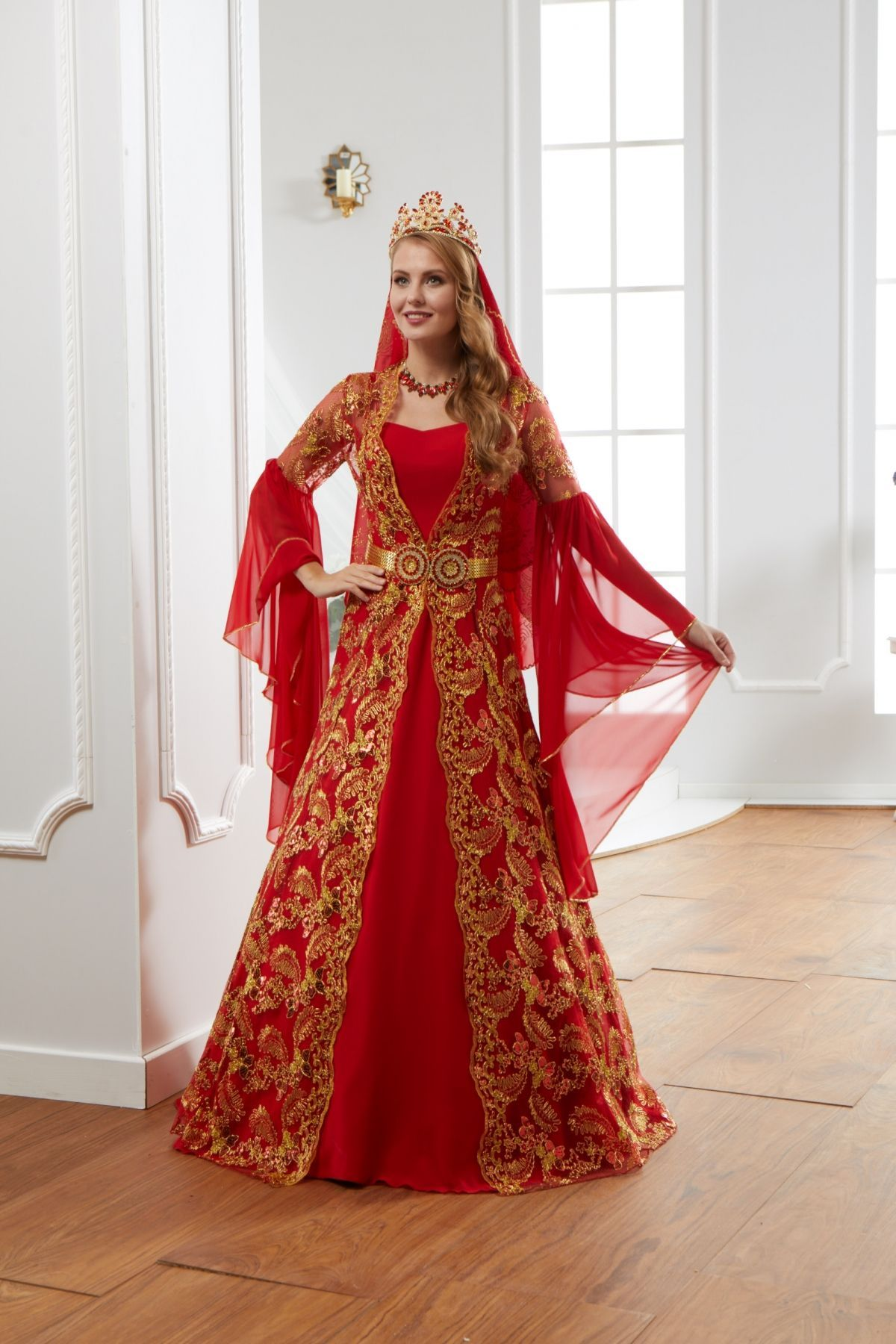 Gönül Kolat Tüllü Gold Nişanlık Abiye Elbise - #Abiye #Elbise
