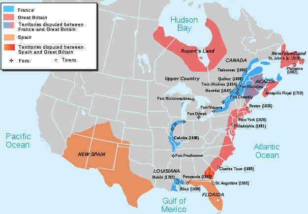 Map showing Territories after Queen Annes War Genealogy