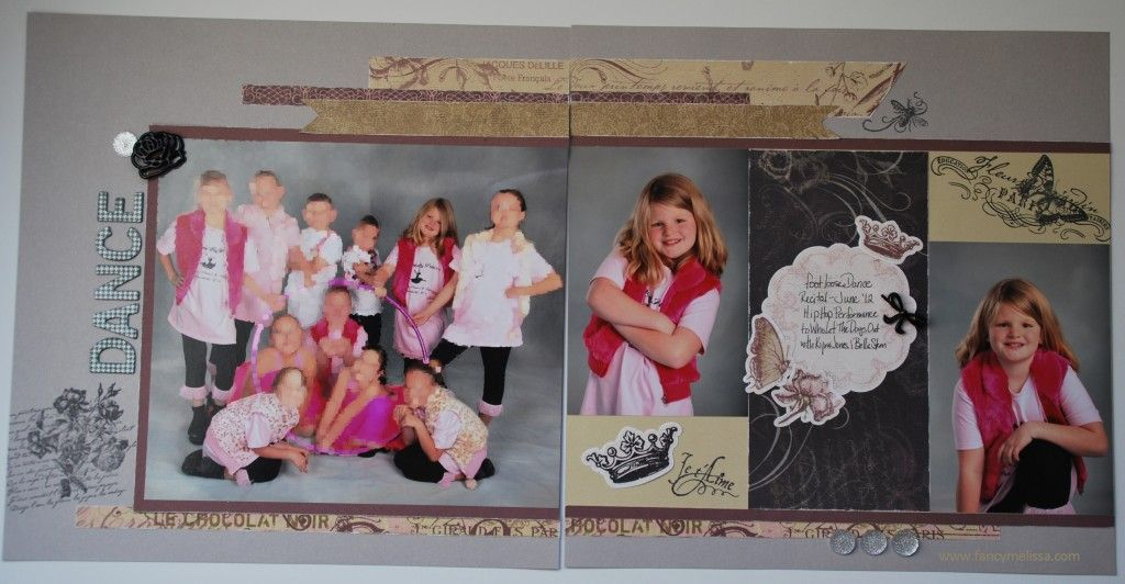 Dance Scrapbook Layout using @Kathie Close To My Heart La Belle Vie Collection - order your kit here