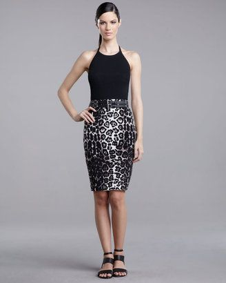 5227f4010d ShopStyle: St. John Collection Leopard-Print Pencil Skirt | **Style ...